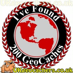 200 Finds Geocaches 44mm Fridge Magnet