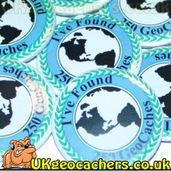 250 Finds 44mm GeoButton Badge