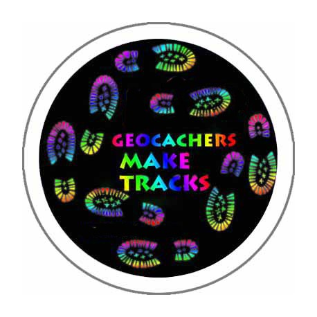 Geocachers Make Tracks 44mm Button Badge