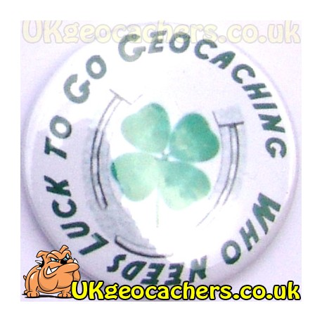 With Luck 44mm Button Badge
