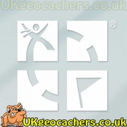 "White 5""x 5"" Geocaching Logo Vinyl Decal"