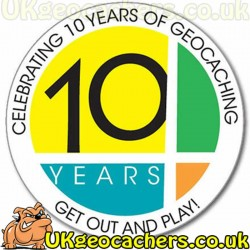 10 Years of Geocaching Sticker