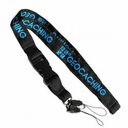 Standard Black/Blue GC Woven Lanyard - Blue