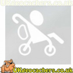 Boy in Buggy Geocaching Decal