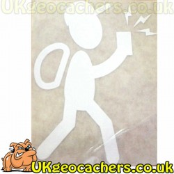 Boy with GPSr Geocaching Decal