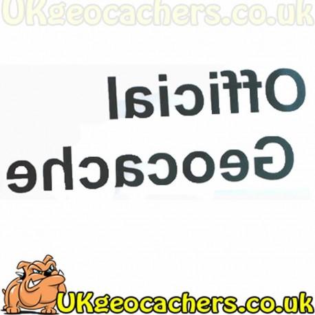 Official Geocache Decal Sticker - Medium