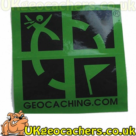 Large Logo Caching Sticker