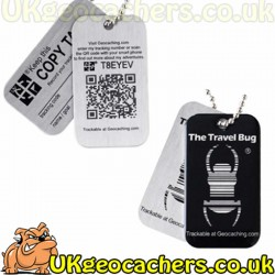 Geocaching QR Travel Bug - Black