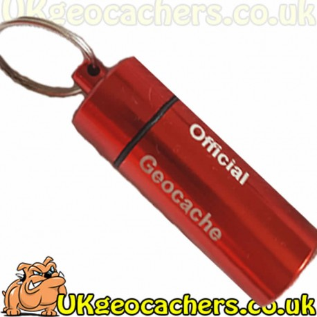 Large Engraved Micro Cache - Red