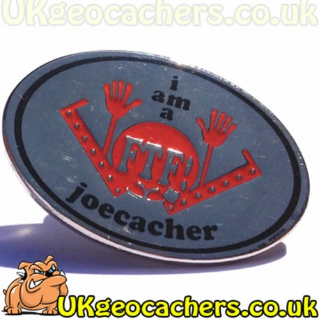 First To Find Joecacher Pin Badge
