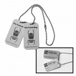 Travel Bug Dog Tag