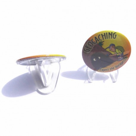 Perspex Geocaching Coin Stand - Clear