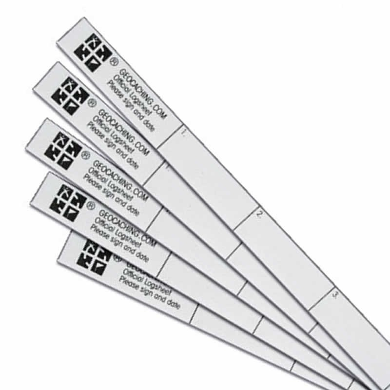 photograph regarding Official Geocache Printable identify Formal Nano Log Strips - 5 Pack for Logbooks