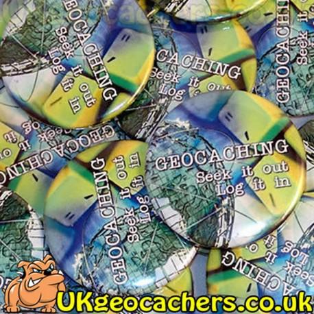 Geocachers Seek It Out 44mm Button Badge