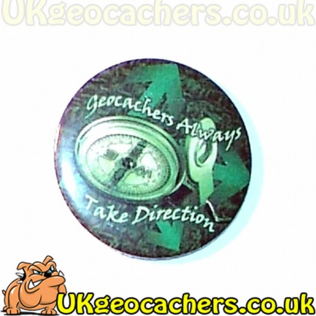 Geocachers Take Directions 44mm Button Badge