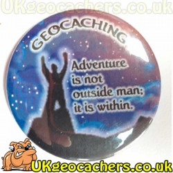 Geocaching Adventure 44mm Button Badge