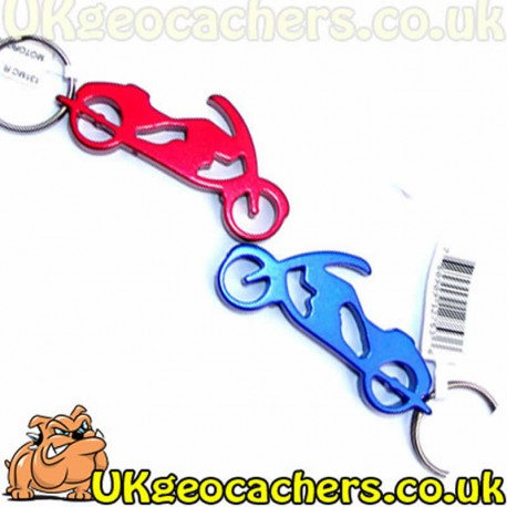 Motor Bike Bottle Opener Keyring