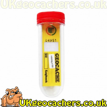 Large PET geocache container with Rotolog 750