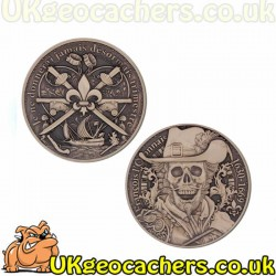 """Talk Like a Pirate"" Geocoin- Limited Edition Bronze Finish"