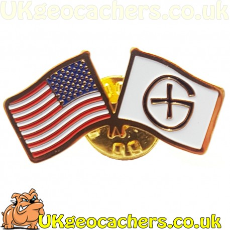 Canada Flag Geocaching Pin