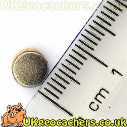 Adhesive Backed Rare Earth Magnet 6mm - North