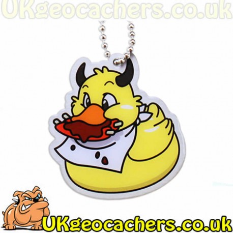 Official Deadly Duck Trackable Tag- Gluttony
