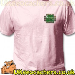 Pink £6m Geocaching T-Shirt - Medium -