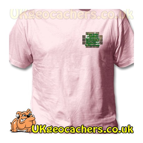 Pink £6m Geocaching T-Shirt - Large