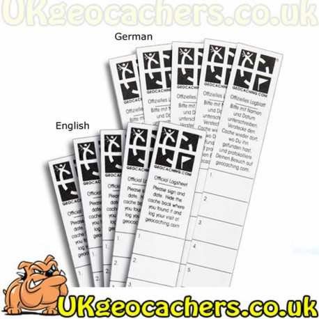 graphic relating to Geocache Log Strips Printable titled Logbooks - UKgeocachers