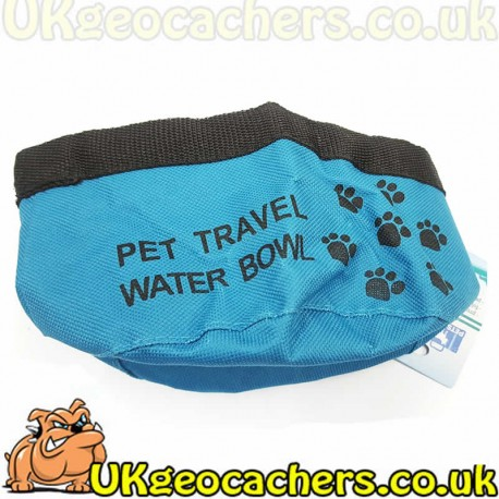 Foldable Dog Water Bowl - Blue