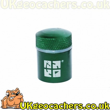 Gun Metal Green Magna Nano Cache Container