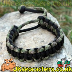 Mad Max Style Paracord Bracelet - DigiCam/Black