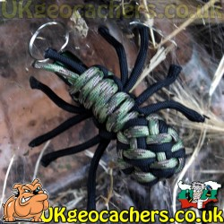 Paracord Spider Cache - DigiCam/Black