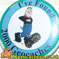 2000 Finds 44mm Geobutton Badge