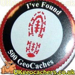 500 Finds 44mm Geobutton Badge