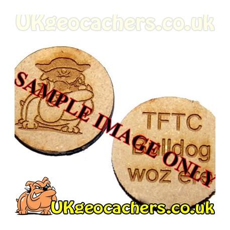 20 x Personalised Wood Engraved Discs