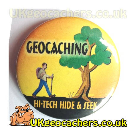 High Tech 44mm Button Badge