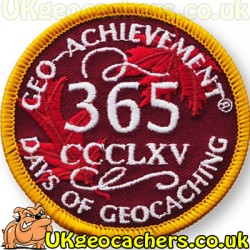 Patch 365 Days of Geocaching Geo-Achievement