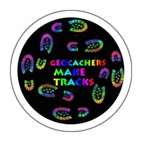 Geocachers Make Tracks 44mm Button Badge
