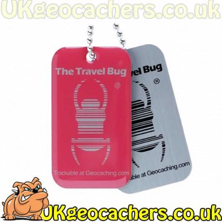 Geocaching QR Travel Bug - Pink