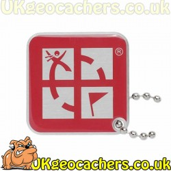 Geocaching Logo Travel Tag - Pink