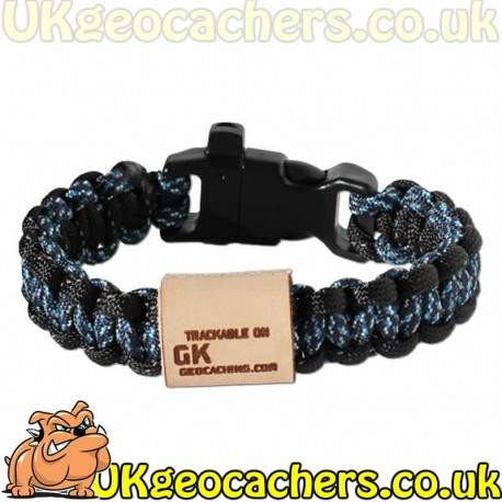 GeoKnots Survival Bands - Digital Blue/Black Reflective - Large