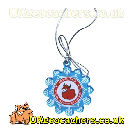 Trackable Snowflake Ornament - HQ Duck Dash