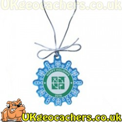 Trackable Snowflake Ornament - Happy Holidays