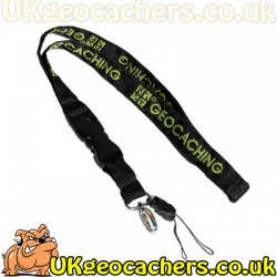 Standard Black/Green GC Woven Lanyard - Green