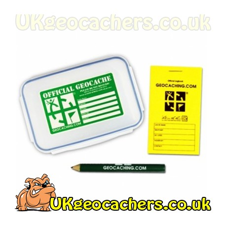 Official Medium Geocache with Logbook & Pencil
