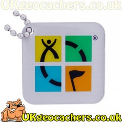Geocaching Logo Travel Tag - Four Colour