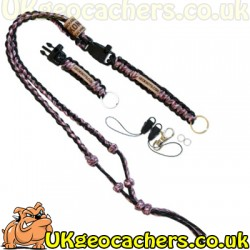 The Ultimate Trackable Lanyard - Sneaky Pink/Black Reflective