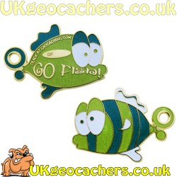 Limited Edition Go Fish Geocoin - Green