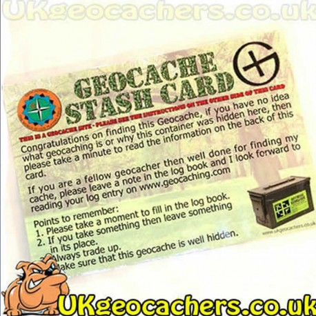 Large Geocache Stash Card